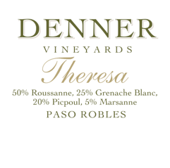 Denner Vineyards 2012 'Theresa', Paso Robles