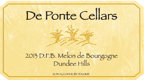 De Ponte Cellars 2013 Melon, Willamette Valley
