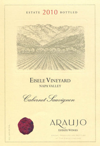 Araujo Estate Wines, 2010 Cabernet  Sauvignon, 'Eisele Vineyard', Napa Valley