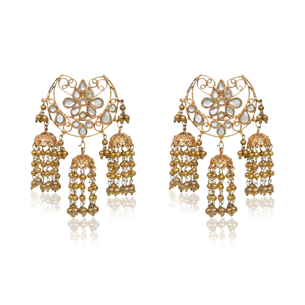 EDEN GATE TRIPLE JHUMKA CHANDBALI