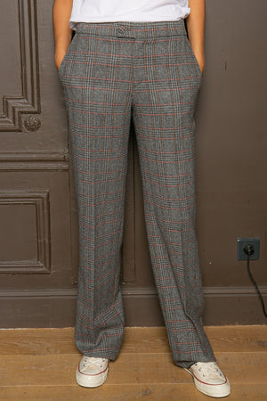 PRINCE OF WALES STRAIGHT PANTS