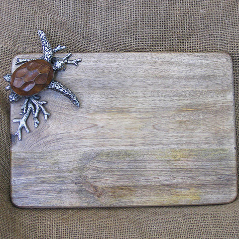 Mud Pie Turtle Large Cutting Board