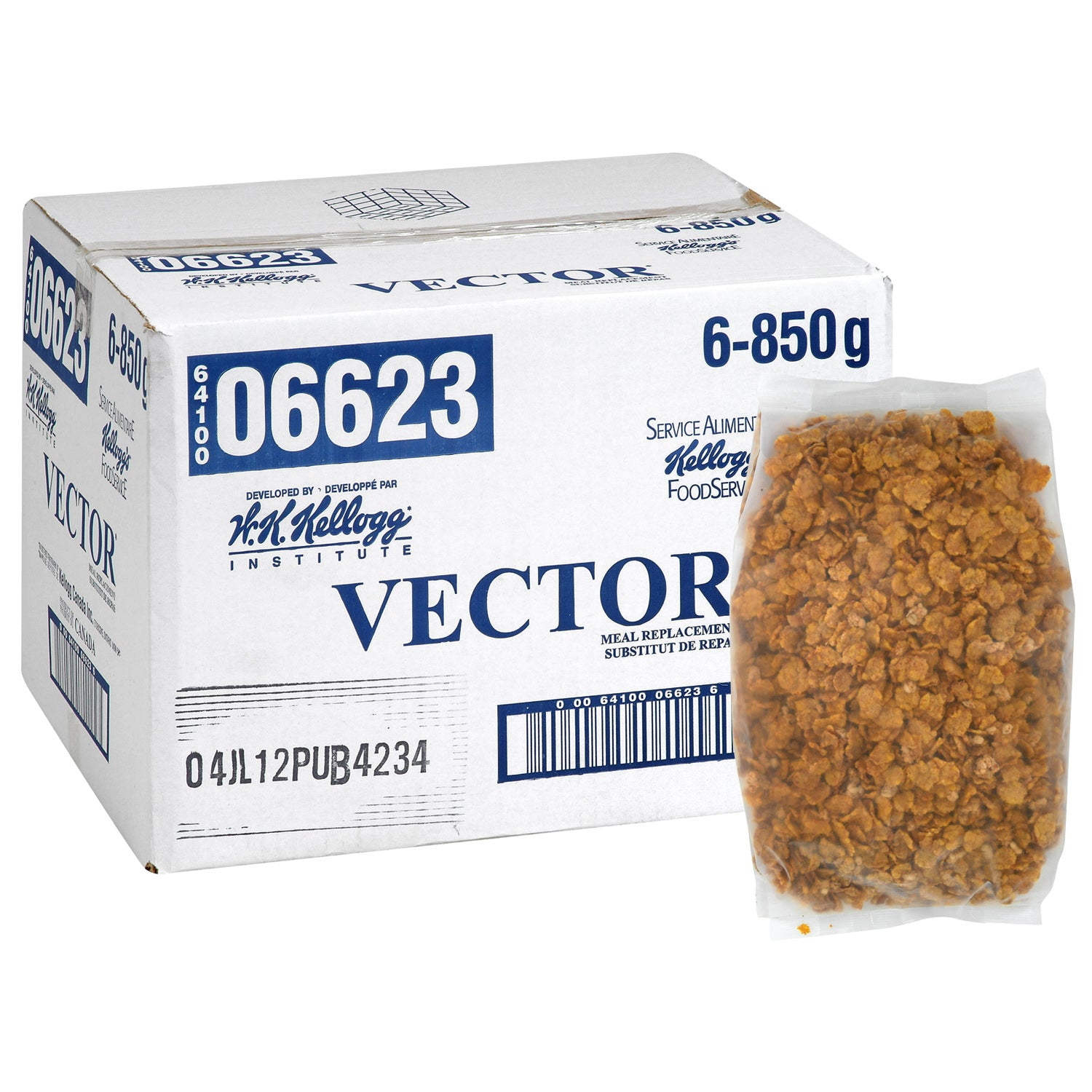 Kellogg's Vector Cereal 850 g - 6 Pack [$9.17/bag]