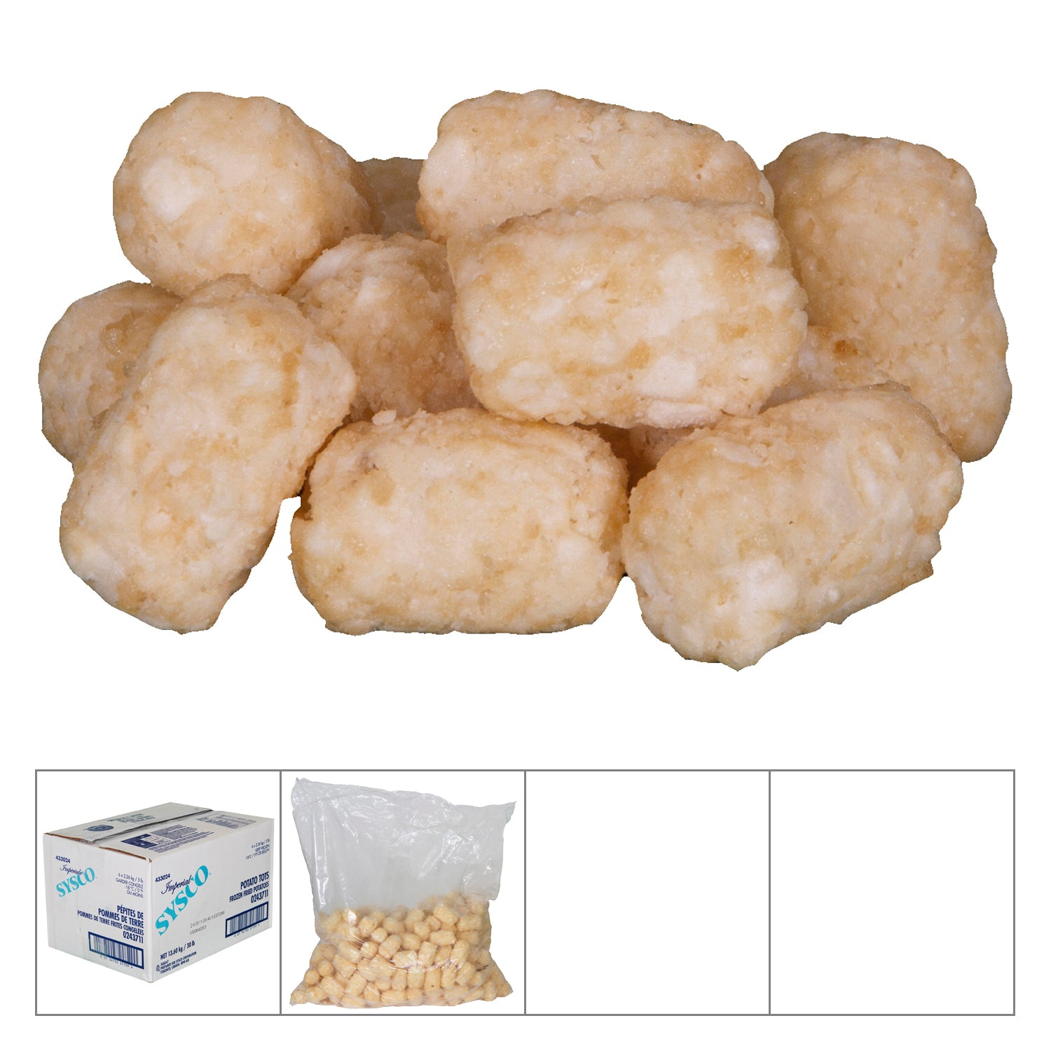 Sysco Imperial Frozen Potato Bites 5 lb - 6 Pack [$2.13/lb]