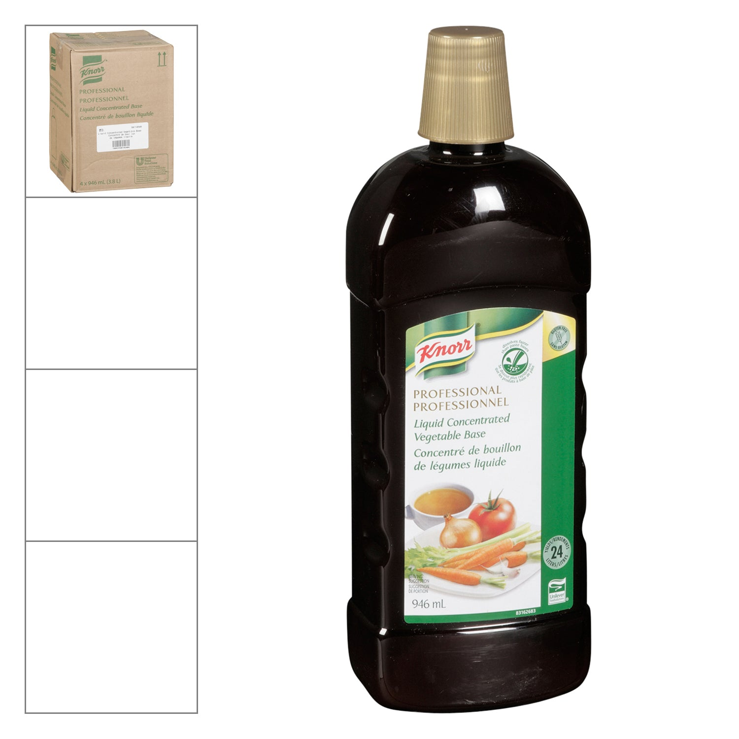 Knorr Professional Concentrated Liquid Vegetable Base 946 ml - 4 Pack [$15.00/each]