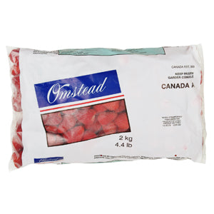 Omstead Individually Quick Frozen Strawberries 2 kg - 1 Pack [$6.25/kg]