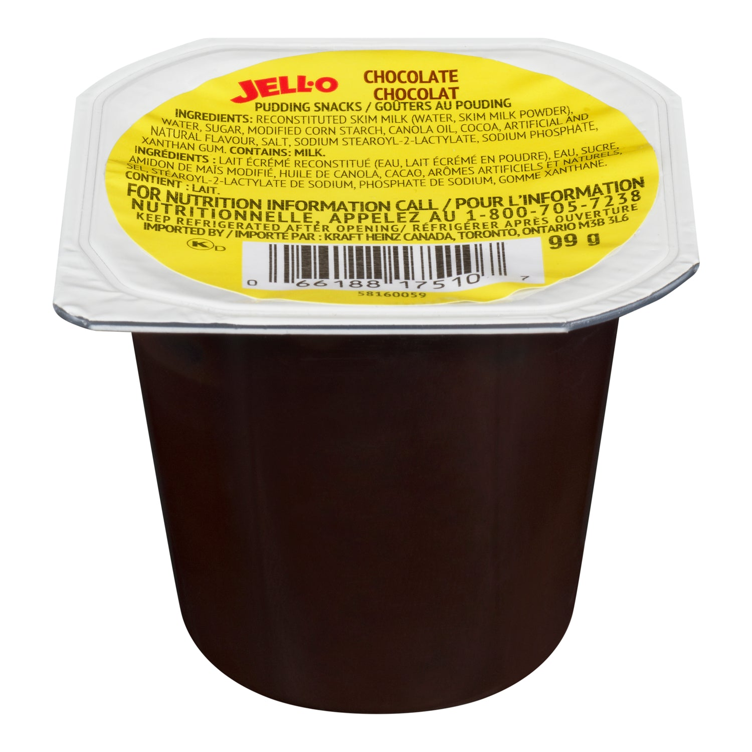 Kraft Chocolate Pudding Cup 99 g - 24 Pack [$0.75/each]