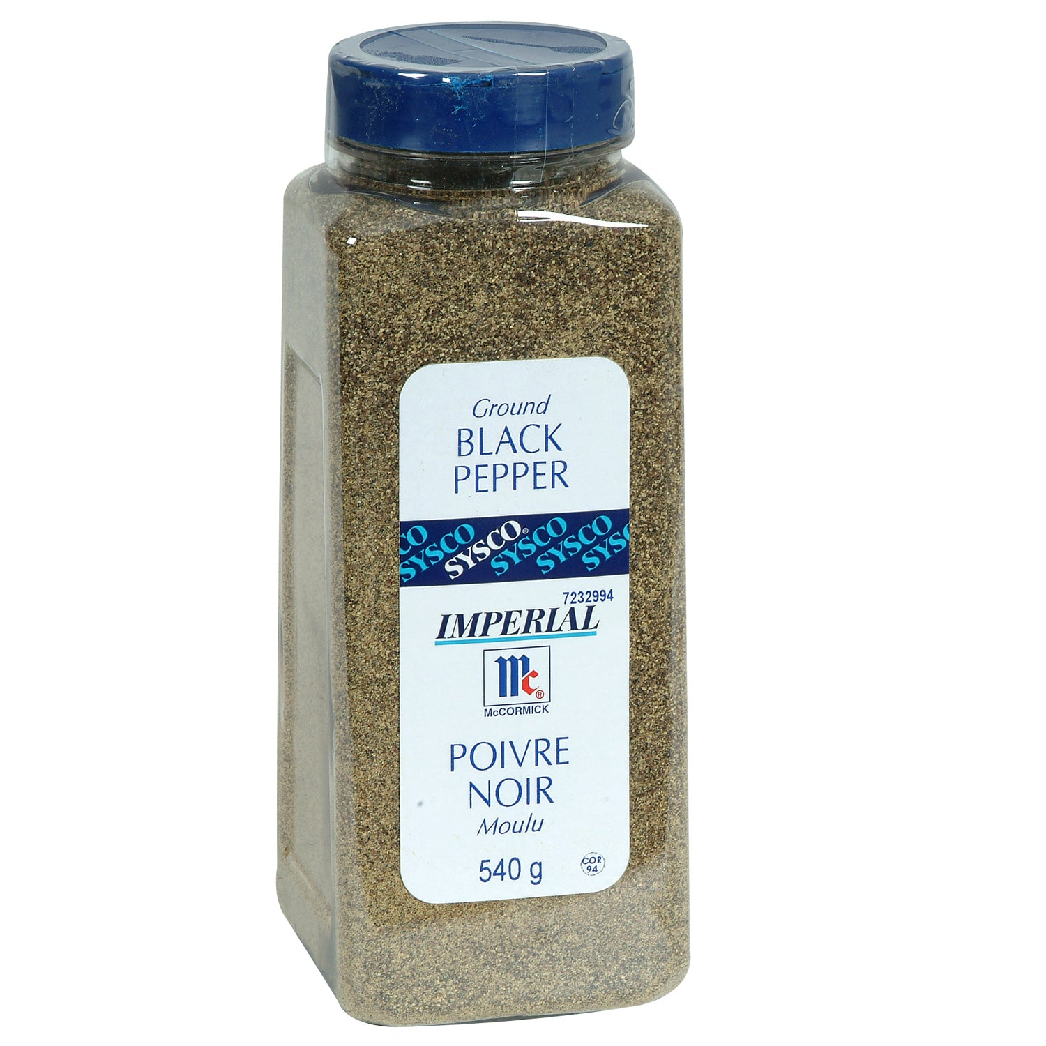 Sysco Imperial Ground Black Pepper 540 g - 1 Pack [$25.99/each]