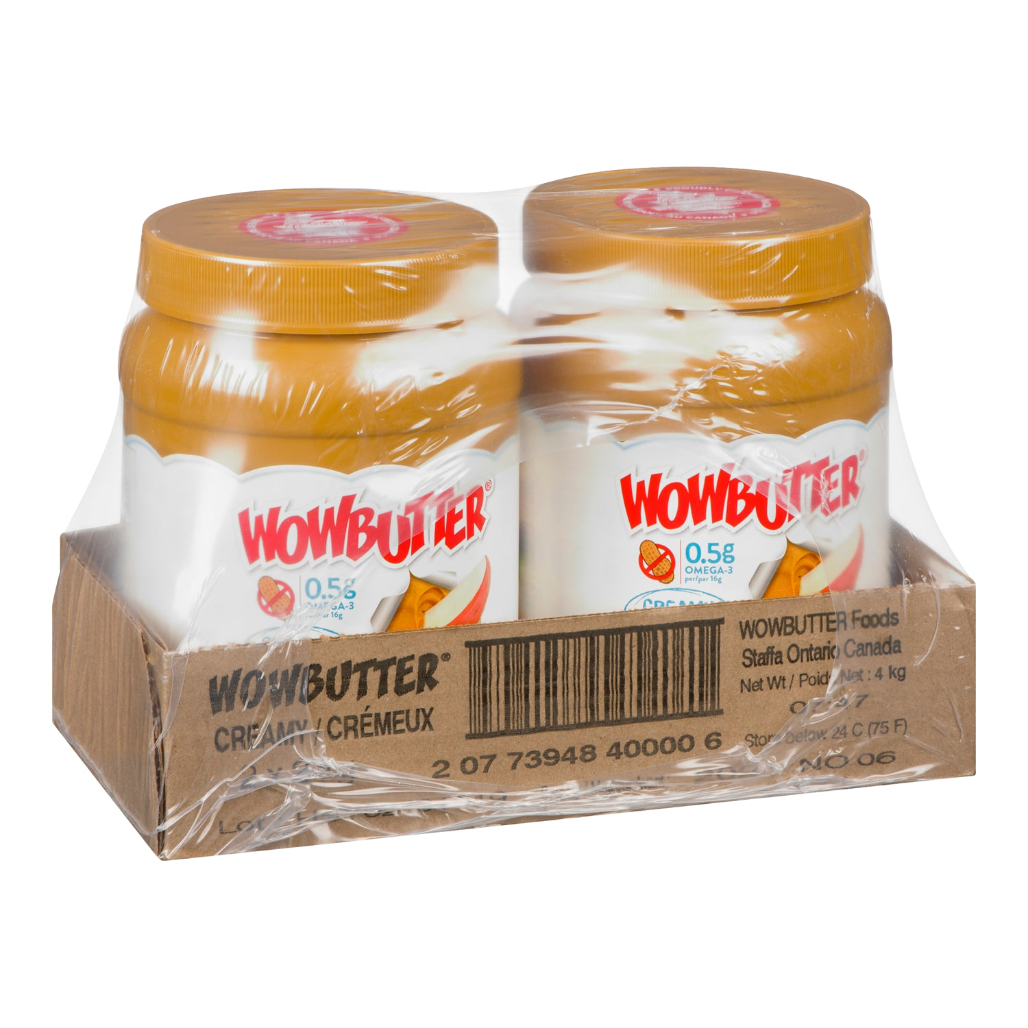 "Wow Butter Spread ""Tastes Just Like Peanut Butter"" 2 kg Peanut Free - 2 Pack [$8.50/kg]"
