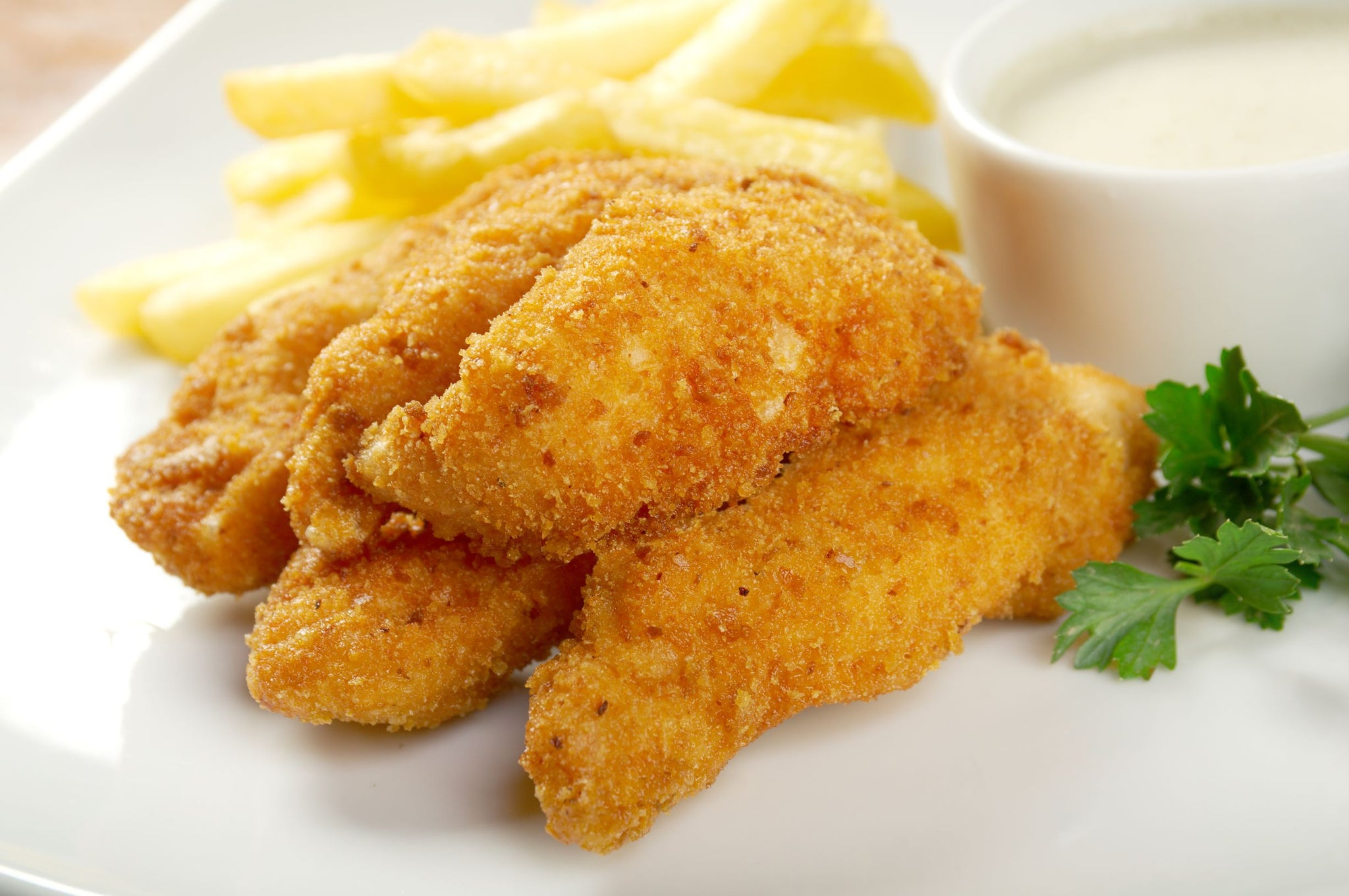 Sysco Classic Frozen Wave Chicken Finger 2 kg - 2 Pack [$16.25/kg]
