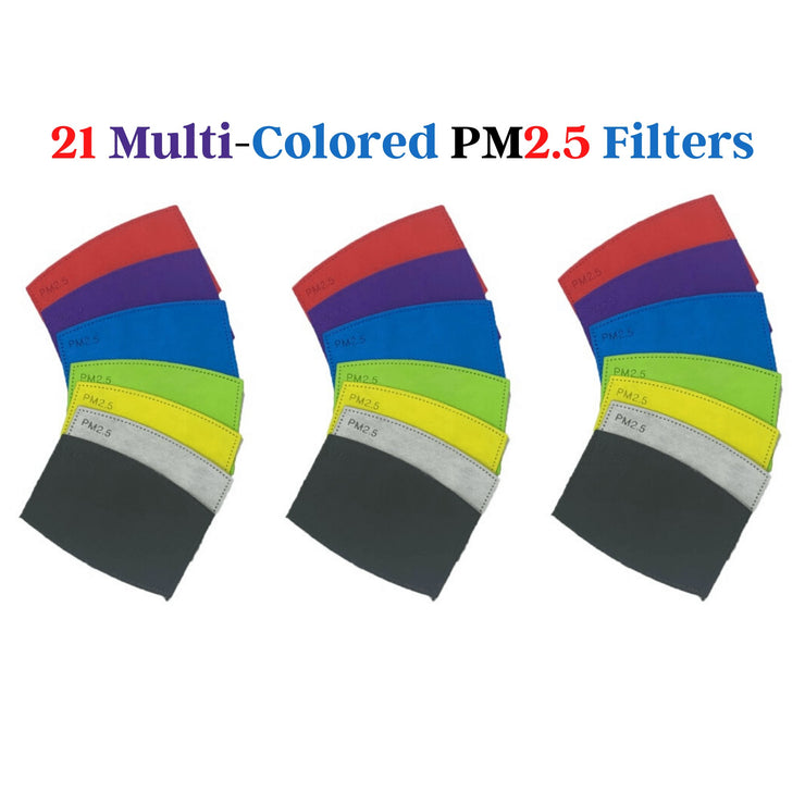 PM 2.5 Filters for Face Masks PM2.5 Mask Filters Medical Store Supply 21 Multi-Color