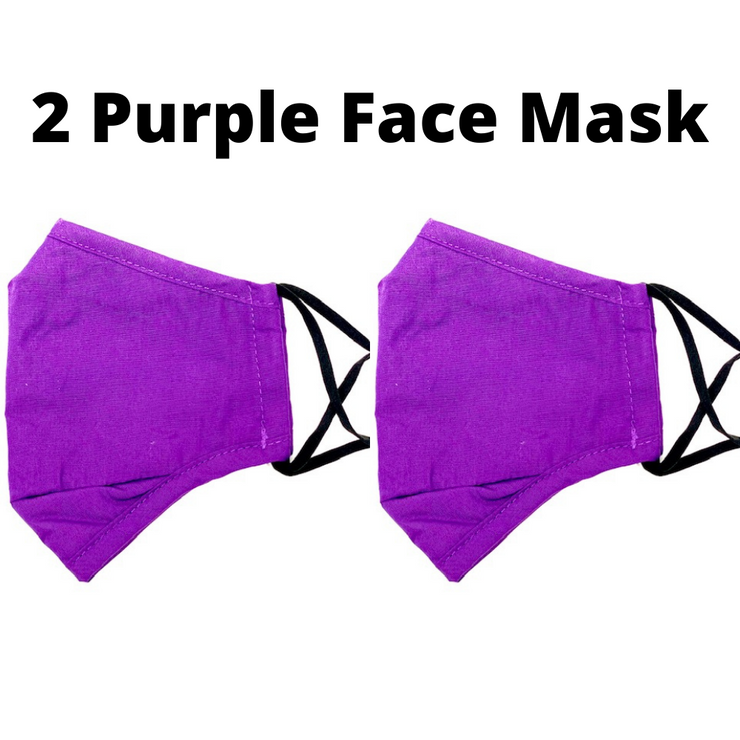 Purple Reusable Cloth Face Mask