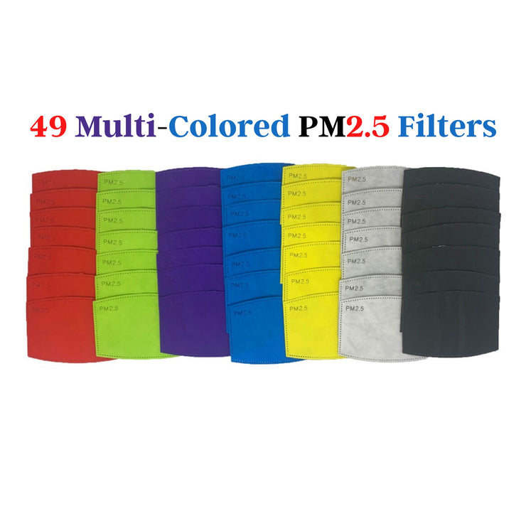 PM 2.5 Filters for Face Masks PM2.5 Mask Filters Medical Store Supply 49 Multi-Color