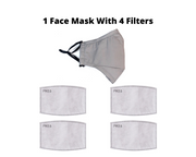 Gray Reusable Cloth Face Mask