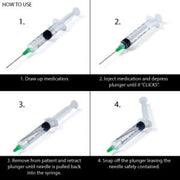 ClickZipTM Manual Retractable Safety Syringe: 1ml Insulin (29G x 1/2″) Box of 100