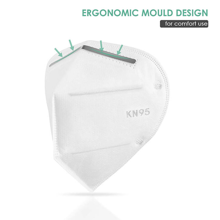 KN95 Medical Face Masks Ergonomic mould design