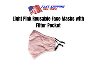 Light Pink Reusable Cloth Face Mask