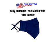 Navy Reusable Cloth Face Mask