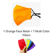 Orange Reusable Cloth Face Mask