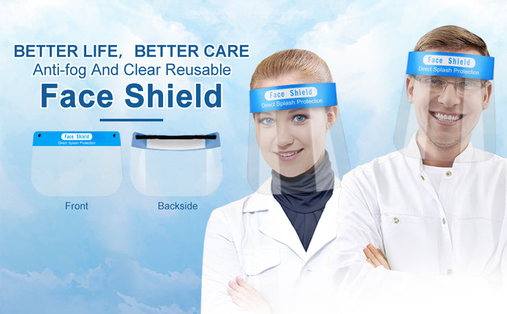 Safety Face Shield with Clear Push-Up Visor