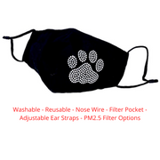 Bling Paw Face Mask