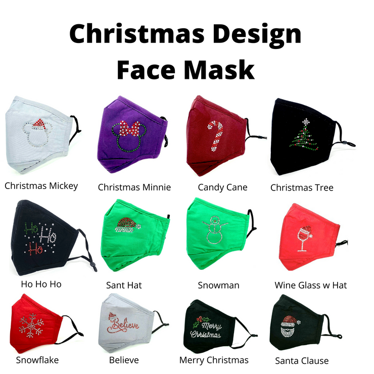 Christmas Mickey Holiday Face Mask