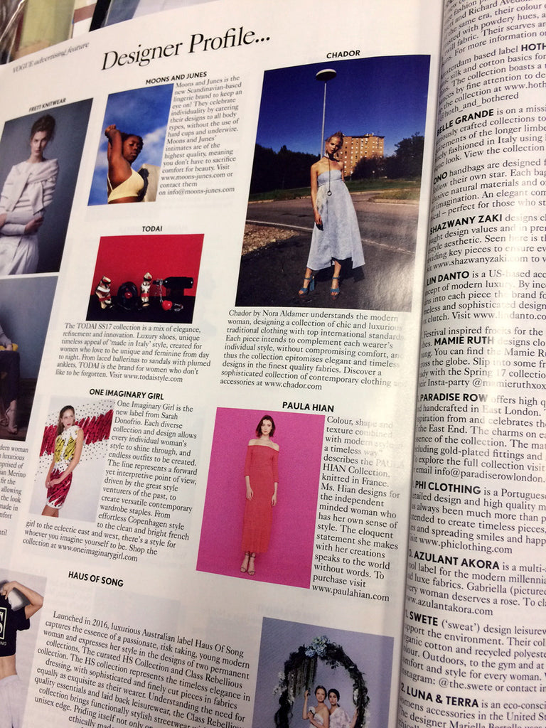 Paula Hian Kari Dress featured in British Vogue