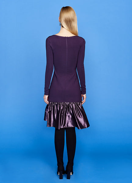 Tilda - Long Sleeve, Cocktail Dresses with Silk Taffeta Ruffle