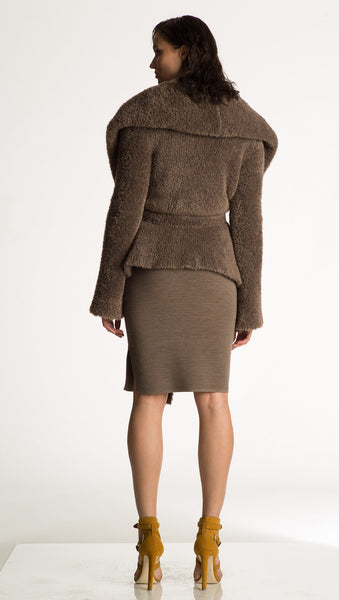 Marilyn - Brown Faux Fur Coat