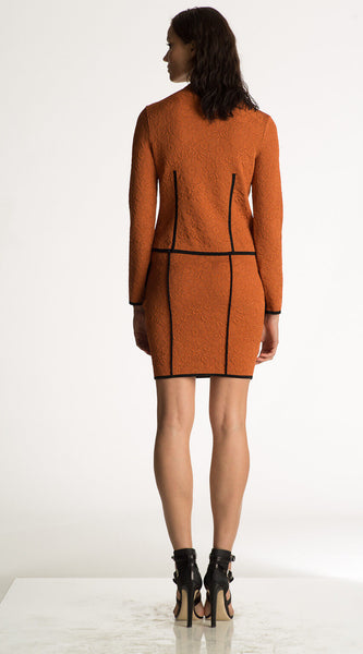 Madeleine - Lightweight Orange and Black Quilted Jacket