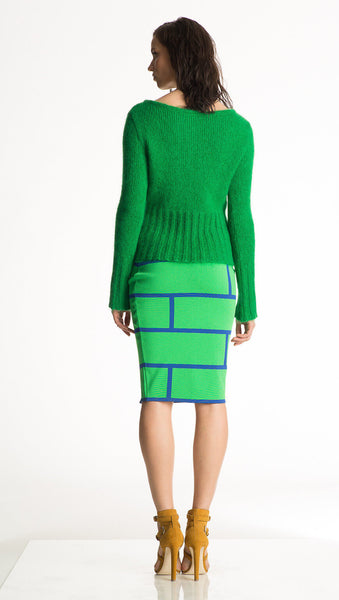 Lela - Emerald Green or Black Mohair Sweater