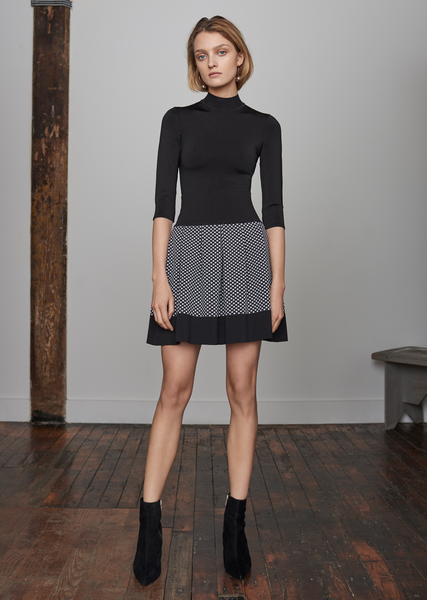 Eloisee – Diamond Pattern Mini Skirt