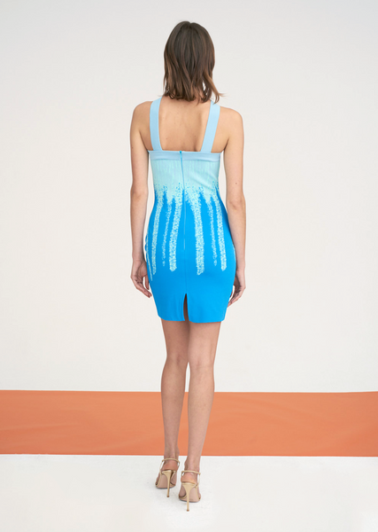 Belda - Bodycon Dress with Brush Stroke Ombré Design