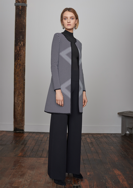 Benjamine - Long Diamond Pattern Jacket