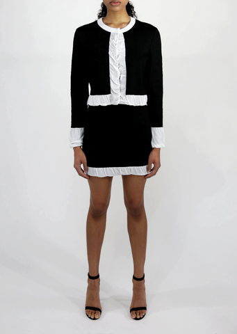 Black and White Cardigan Sweater Sale