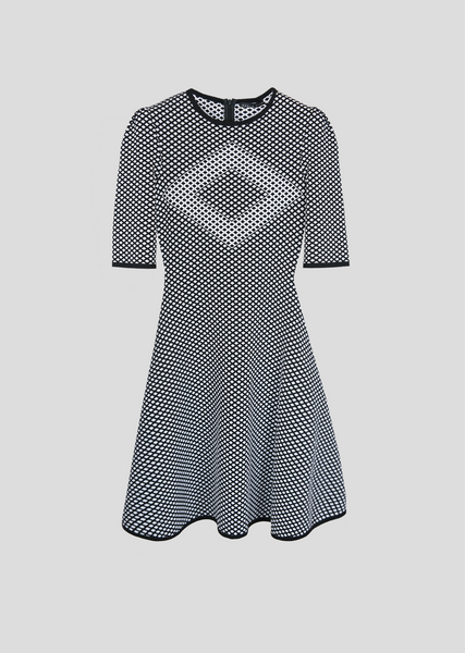 Chloe – Short Sleeve Diamond Motif Dress