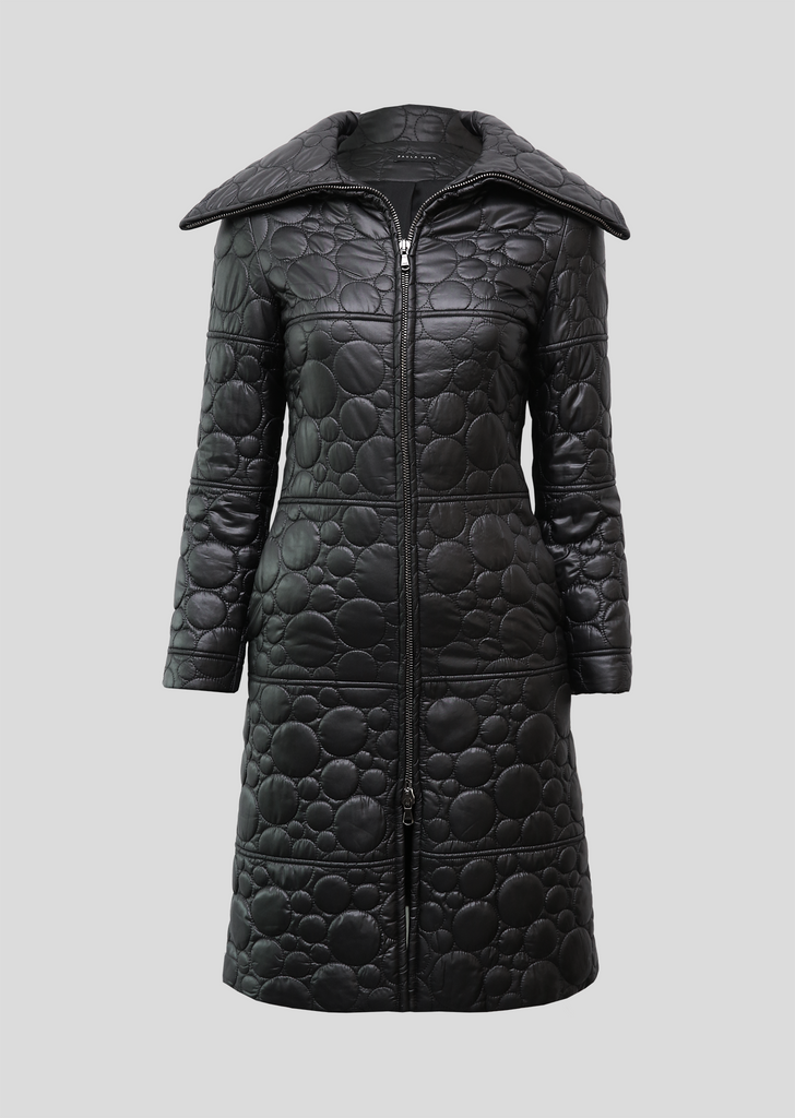 Quilted Circle Winter Coat