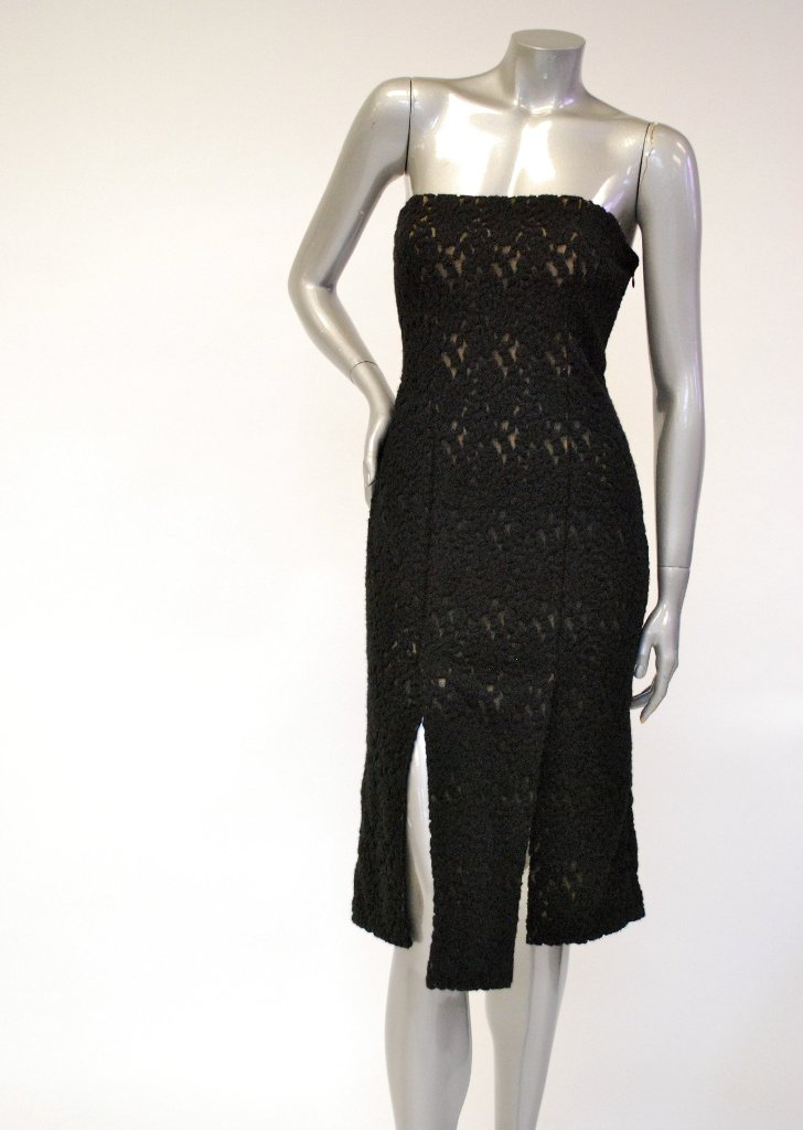 Knitted, Strapless, Lace, Little Black Dress Sale