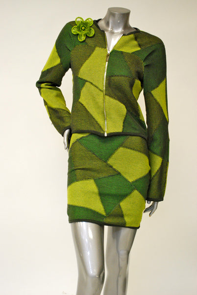 Knit Jacket Sale - Patchwork Pattern
