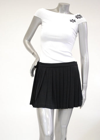 Pleated Black Mini Skirt Sale