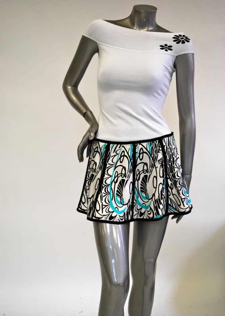 Silk, Flared, Floral Mini Skirt Sale