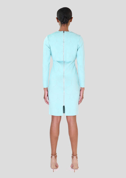 *PRE-ORDER* Louvre - Stretch Knit Two Piece Suit with Scalloped Detail