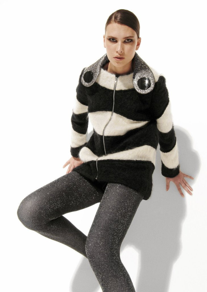 Mohair, Black and White Striped Slouchy Sweater Sale