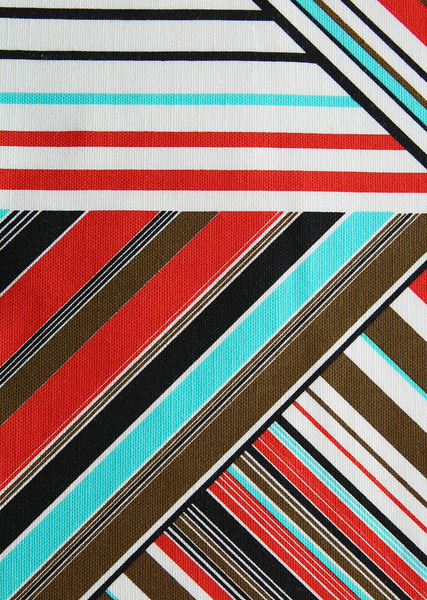 modern lines red/turquoise/brown/black