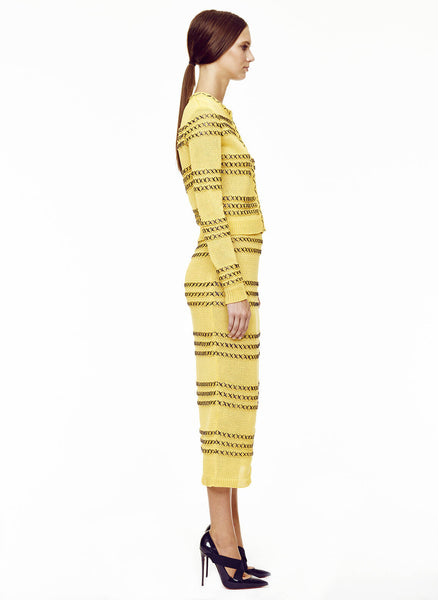 daffodil yellow/black raffia
