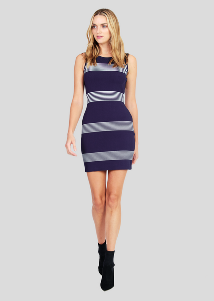Jeena – Nautical Striped Sleeveless Dress