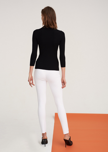 Lina - Ribbed Mock Neck Top