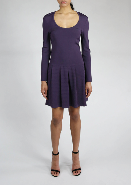 Villette - Scoop Neck Dress with Pleated Skirt