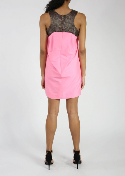 Sleeveless Pink Halter Dress Sale
