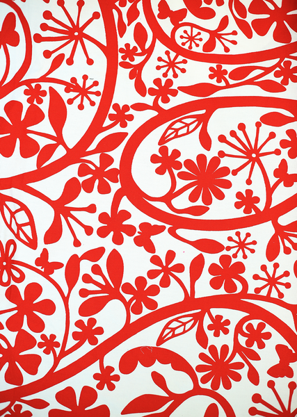 red/white floral